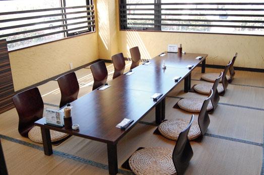 個室が多く、子どもと一緒でも安心。個室は4人〜40人対応