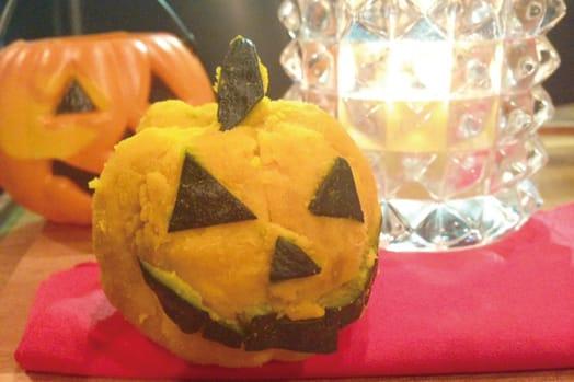 ハロウィン♪ かぼちゃの茶巾★
