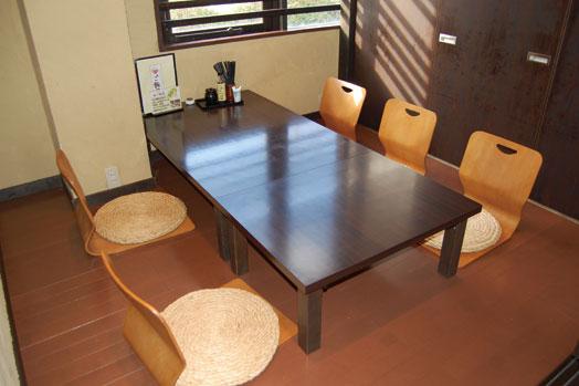 個室は利用人数によって3~4つ変動します